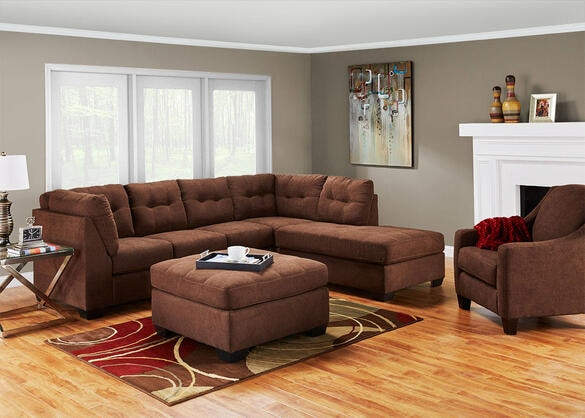 MARLO 3 PC LAF SLPR SECTIONAL WALNUT