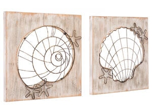Beach 2 Pc. Wall Decor Brown