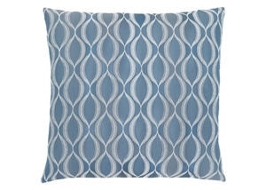 Wave Pattern Pillow Blue