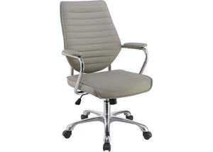 Contemporary Taupe High-Back Office Chair by Scott Living