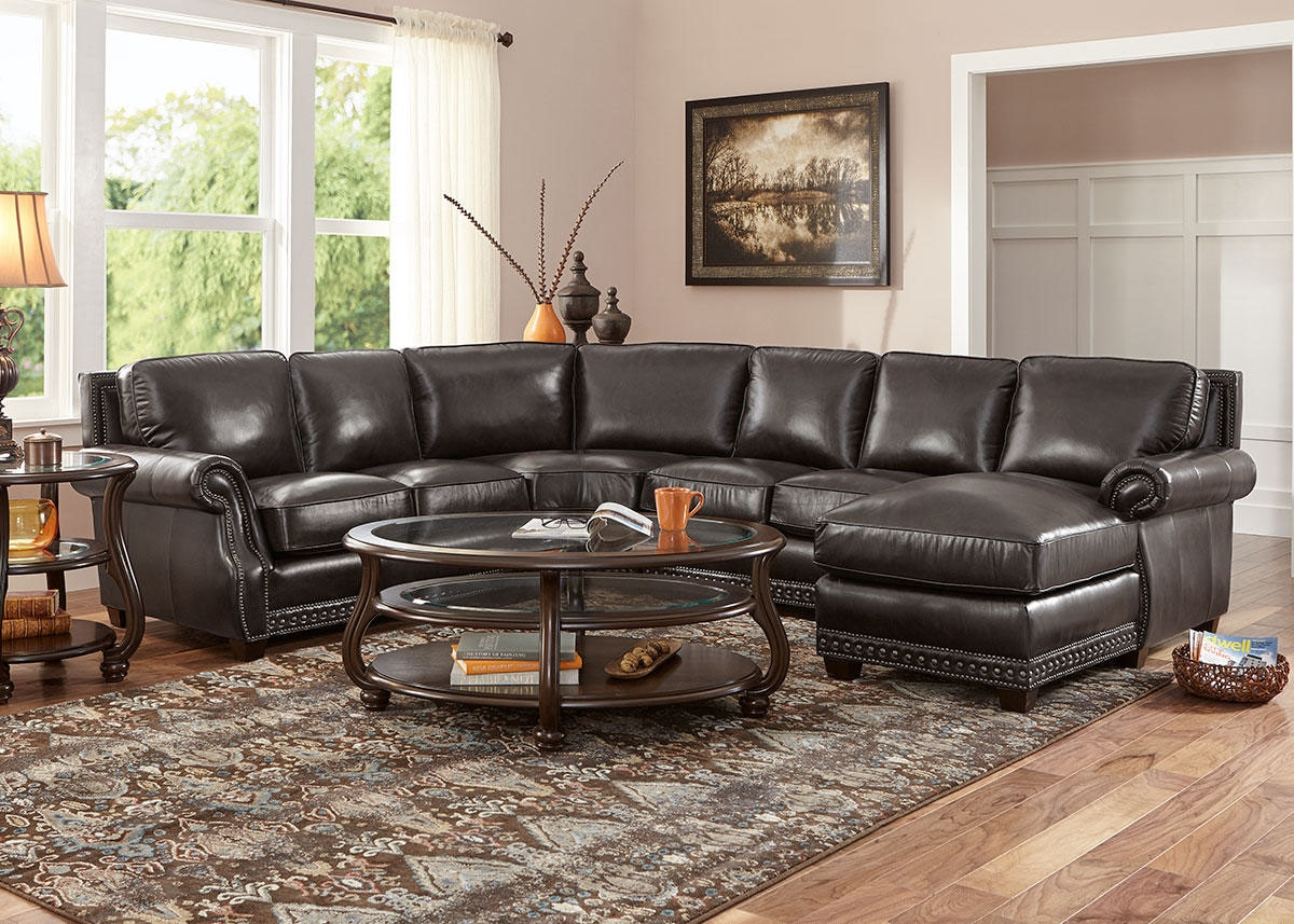 Genoa Charcoal 4 Pc. Sectional