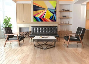 Rocky Black 3 Pc. Living Room