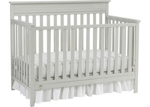 Newbury Misty Gray Convertible Crib by Fisher Price