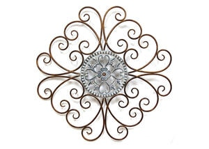 Scroll Medallion Wall Decor Bronze
