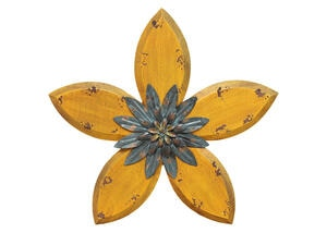 Antique Flower Wall Decor Yellow