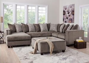 Bristol Silver 3 Pc. Sectional (Reverse)