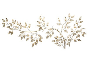 Flowing Leaves Wall Decor Yellow
