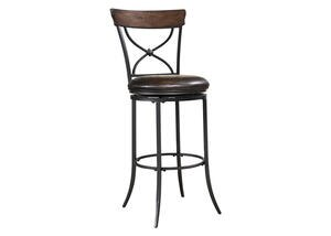 "Cameron 45"" X-Back Swivel Barstool"
