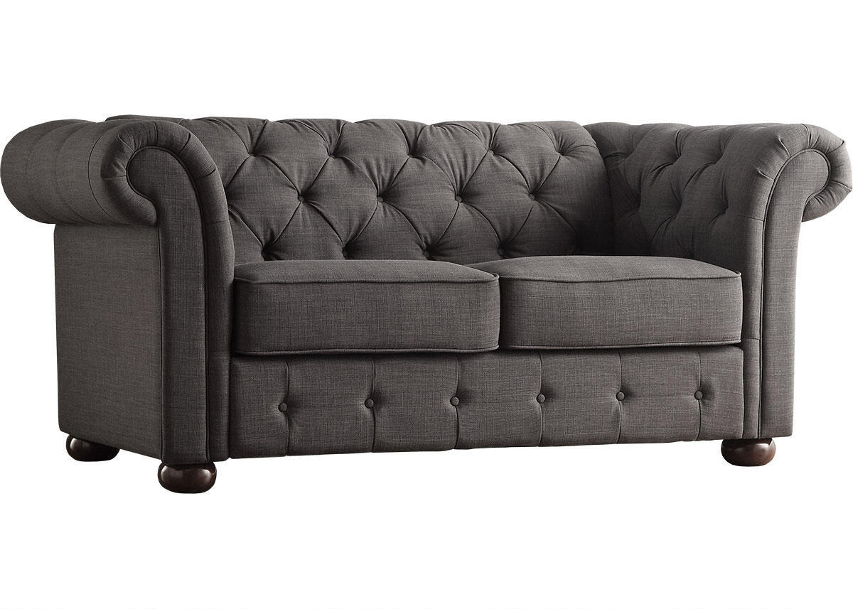 Barrington Charcoal Linen Loveseat