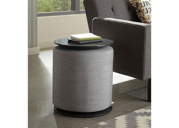 Gray Accent Table and Ottoman by Scott Living