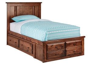 CATALINA TWIN PLATFORM BED W/STRG CHESTNUT