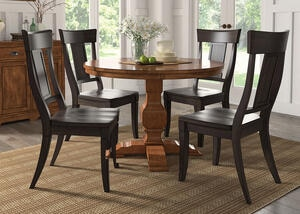 Lakewood Black 5 Pc. Dinette w/Panel Back Chairs