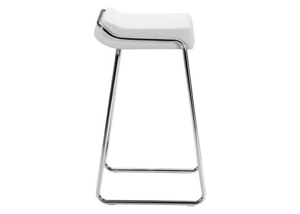 Wedge Barstool White White