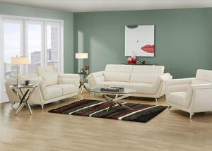 Mars White 3 Pc. Living Room