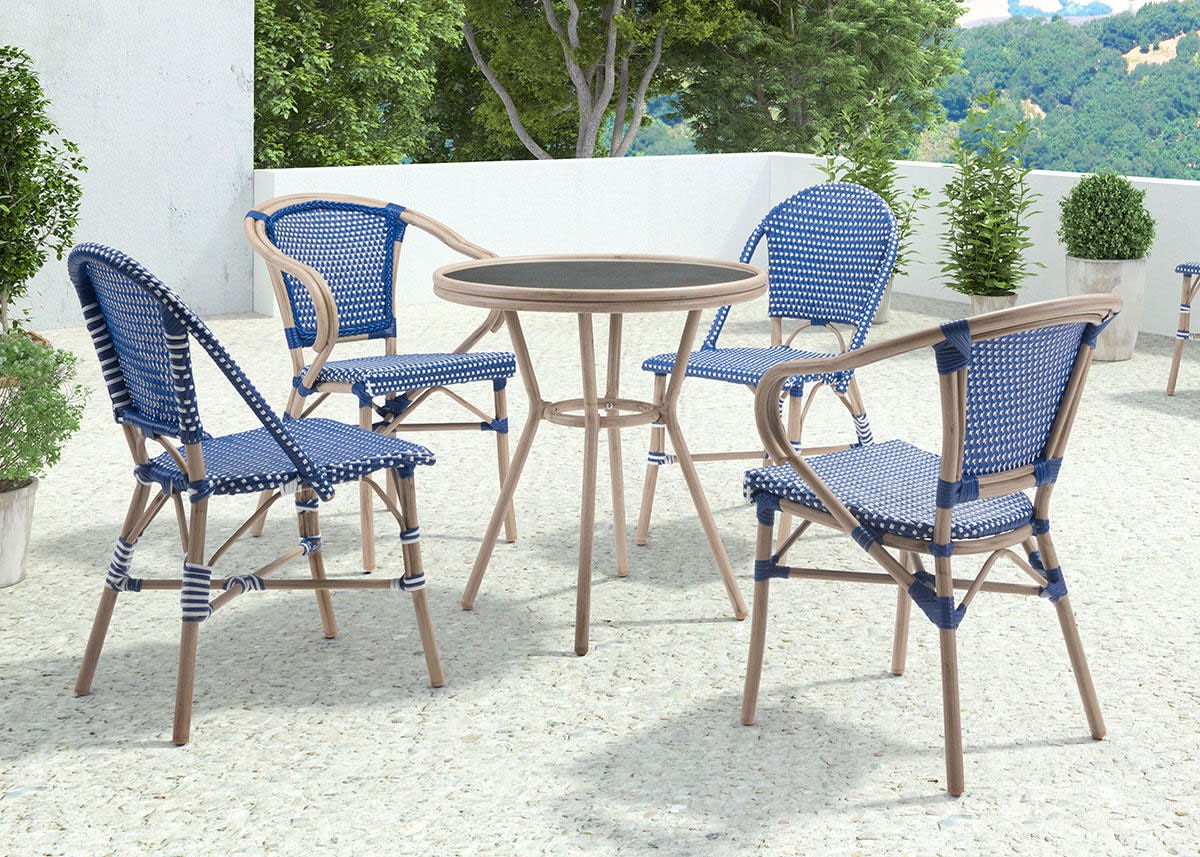 Paris 5 Pc. Navy Dinette Blue