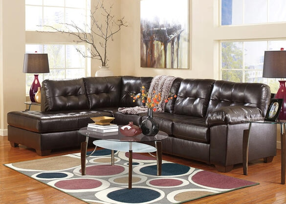 MAXIM 2 PC RAF SECTIONAL CHOCOLATE