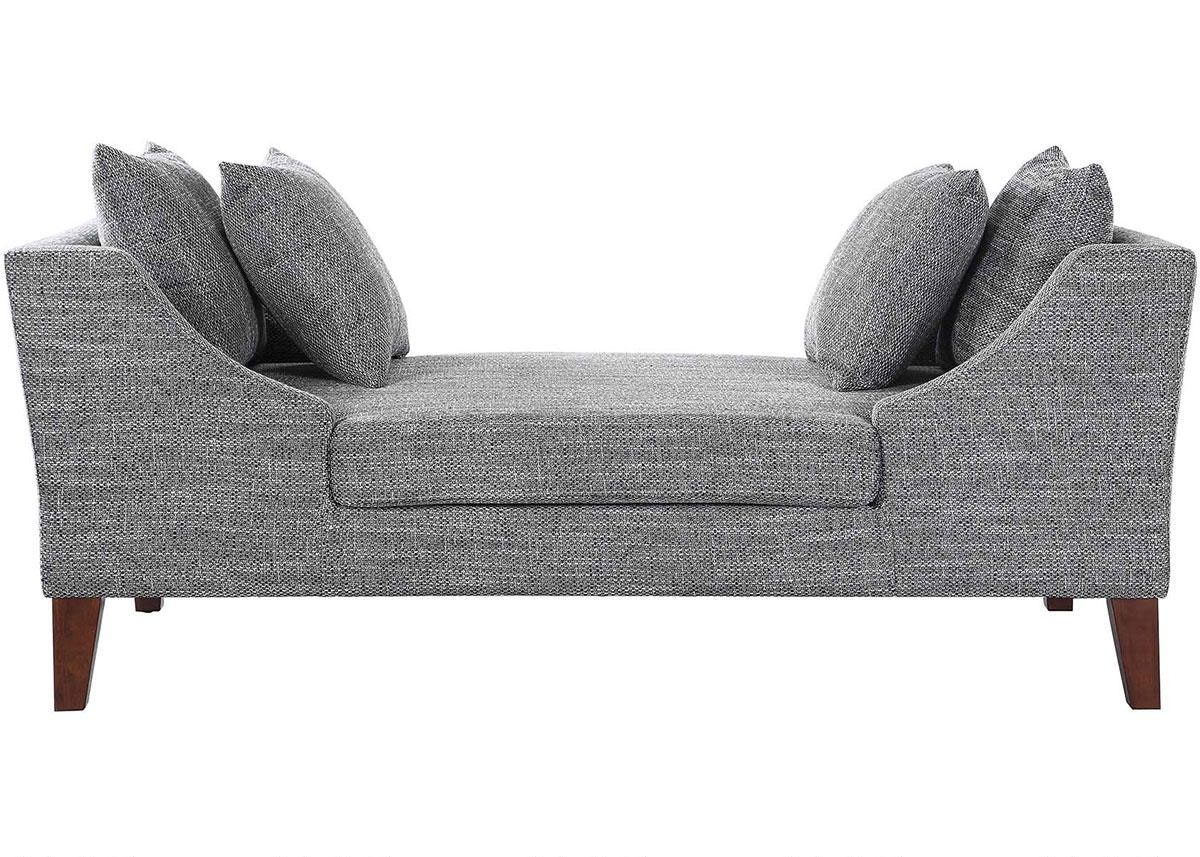 Mid-Century Modern Grey Double-Sided Chaise by Scott Living