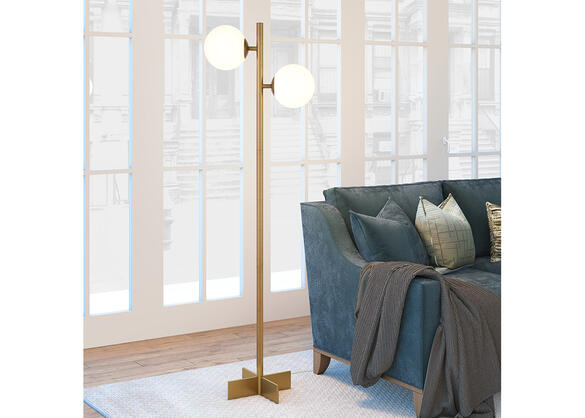 Hudson Amp Canal Twee Floor Lamp Brass The Roomplace