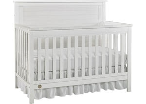 Quinn Wire Brush White Convertible Crib by Fisher Price
