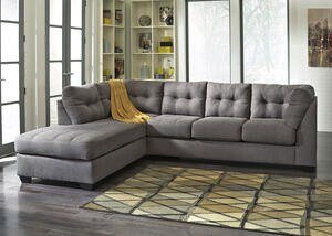 MARLO 2 PC RAF SECTIONAL CHARCOAL