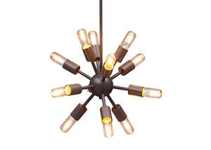 Echo Small Ceiling Lamp Brown