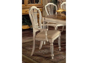 Wilshire White 2 Pc Arm Chair Set