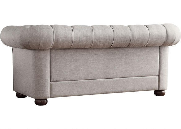 Barrington Gray Linen Loveseat