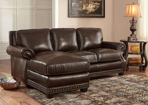 Genoa Chocolate 2 Pc. Sectional (Reverse)