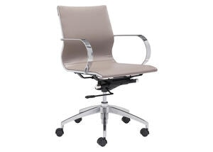 Glider Taupe Low Back Office Chair