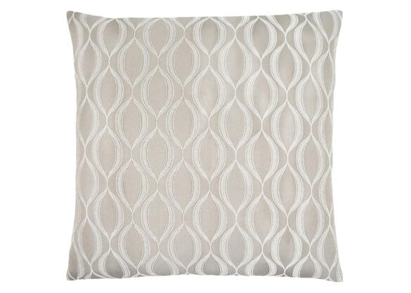 Wave Pattern Taupe Pillow