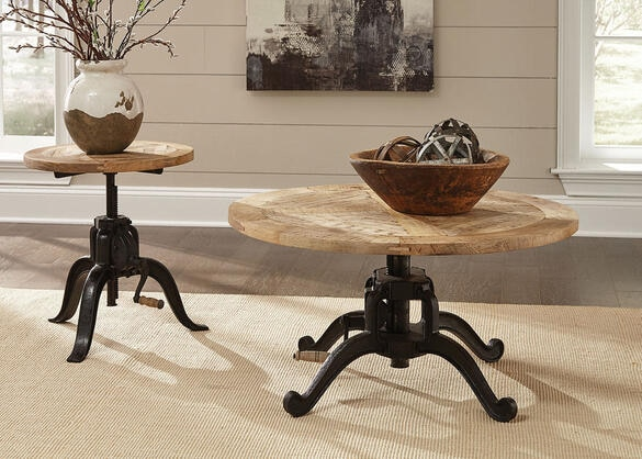 Brownswood Industrial End Table by Scott Living