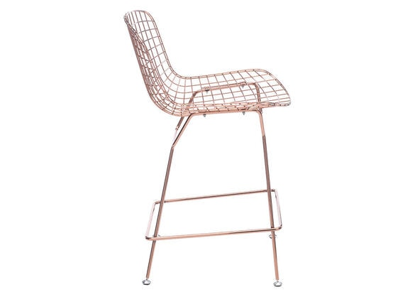 Wire Counter Chair Rose Gold Yellow/gold