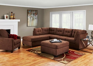 MARLO 3 PC RAF SECTIONAL WALNUT