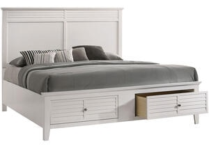 Malibu White King Bed