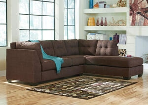MARLO 2 PC LAF SLPR SECTIONAL WALNUT