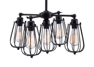 Wellington Ceiling Lamp Black