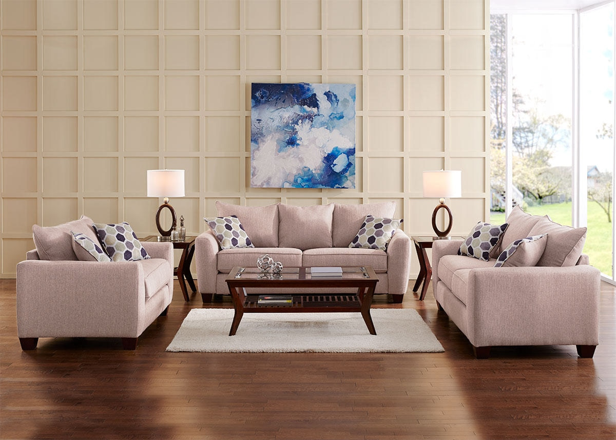 Heritage 3pc Living Room Beige