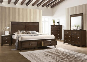 Malibu Brown 7 Pc. Queen Bedroom