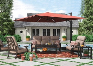 Grand River 3 Pc. Patio Set w/Sofa