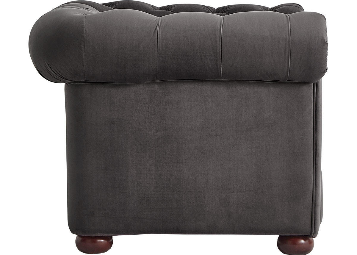 Barrington Charcoal Velvet Sofa