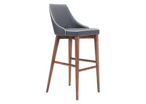 Moor Bar Chair Dark Gray Gray
