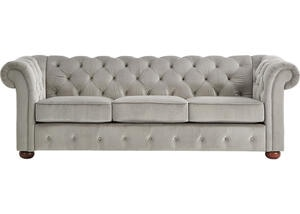 Barrington Gray Velvet Sofa
