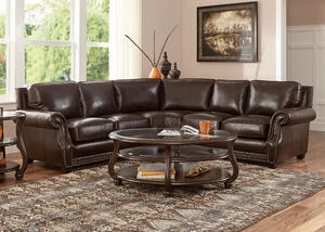 Genoa Chocolate 3 Pc. Sectional