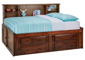 CATALINA FULL ROOMSAVER BED CHESTNUT CHESTNUT