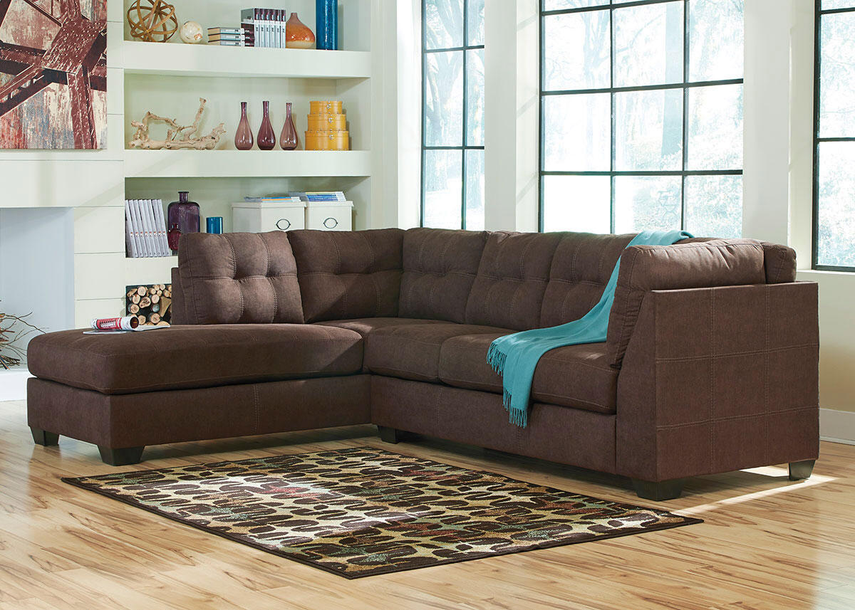 MARLO 2 PC RAF SECTIONAL WALNUT