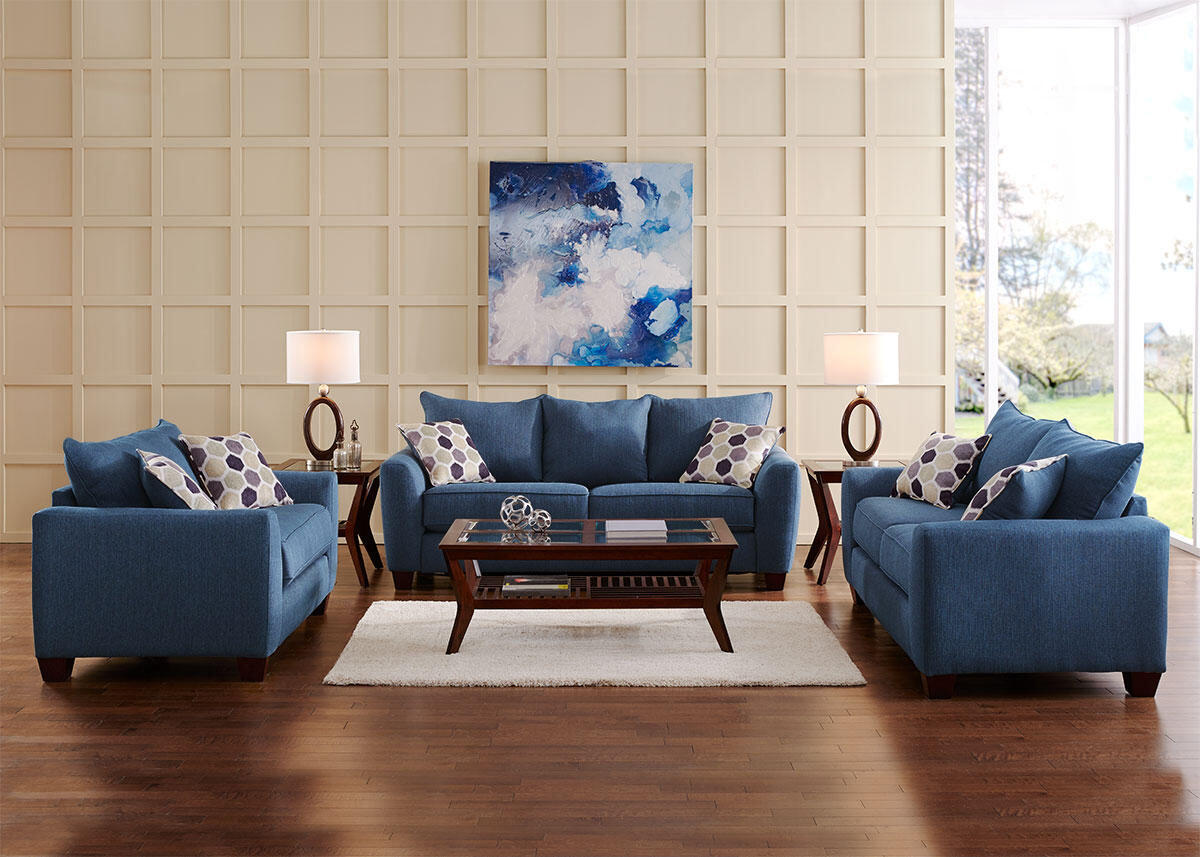 Heritage 3pc Living Room Blue