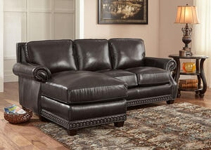 Genoa Charcoal 2 Pc. Sectional (Reverse)