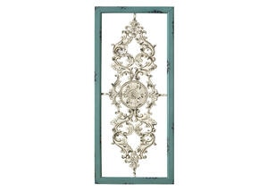 Scroll Panel Wall Decor Blue