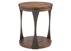 Round End Table Aspen