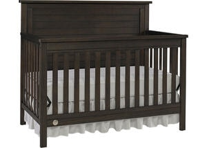 Quinn Wire Brush Brown Convertible Crib by Fisher Price